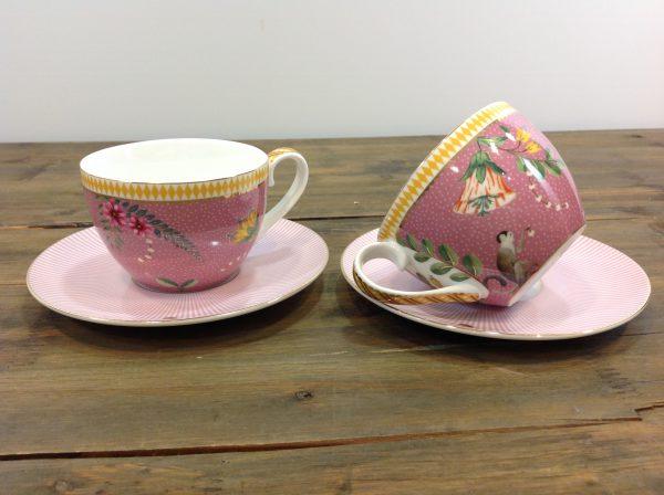 Pip Studio set 2 tazze da tè in porcellana rosa