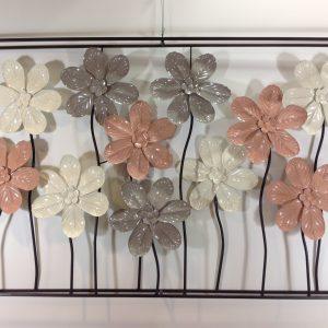 Lorenzongift Quadro con struttura in ferro e fiori assortiti