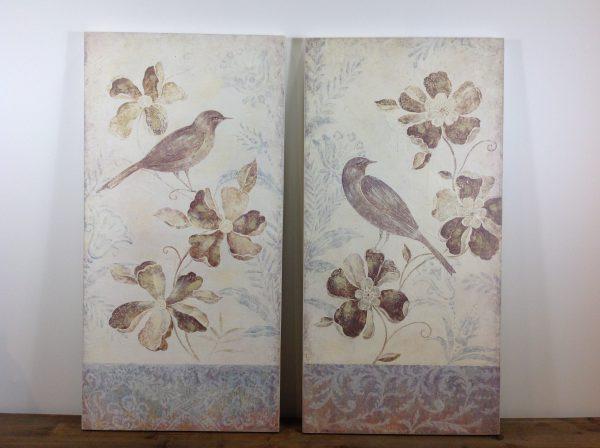 Lorenzongift Pannello con fiori e uccellino