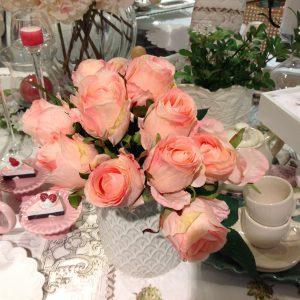 EDG (Enzo De Gasperi) Bouquet di boccioli di rosa colore rosa sfumato