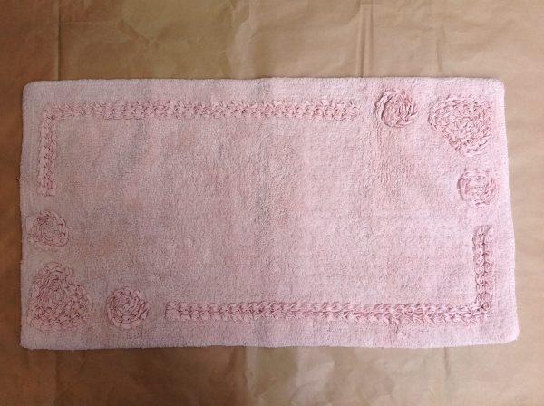 Nuvole di Stoffa Pedana rosa con intarsi 60x130