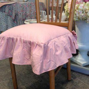 Preziosa Luxury Cuscino coprisedia rosa con frappa