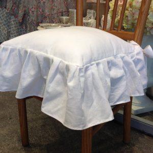 Preziosa Luxury Cuscino coprisedia bianco con frappa