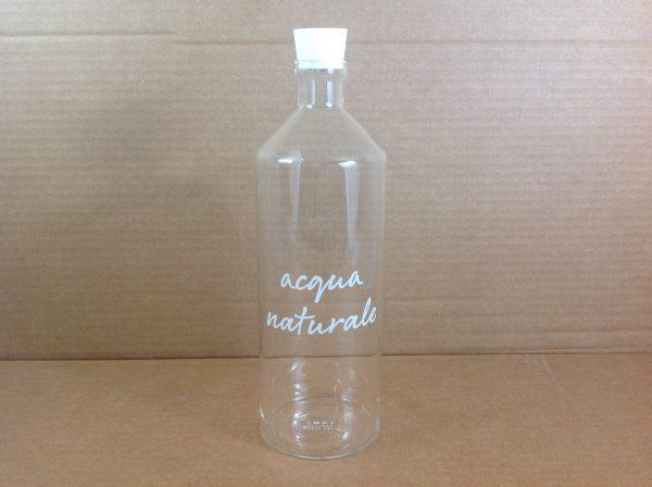 Simple Day Bottiglia in vetro con tappo con scritta Acqua naturale