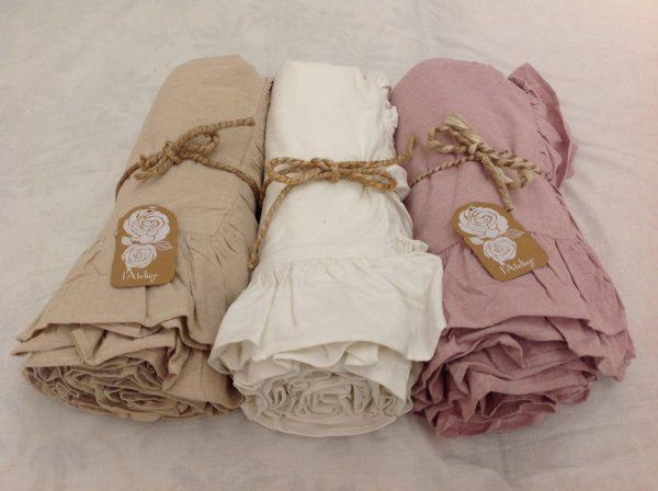 L'Atelier 17 Copriletto Essential matrimoniale rosa con frappa