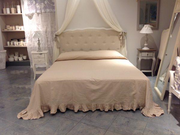 L'Atelier 17 Copriletto Essential in cotone beige matrimoniale