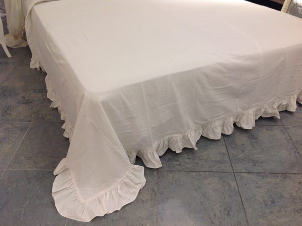 L'Atelier 17 Copriletto Essential bianco matrinoniale
