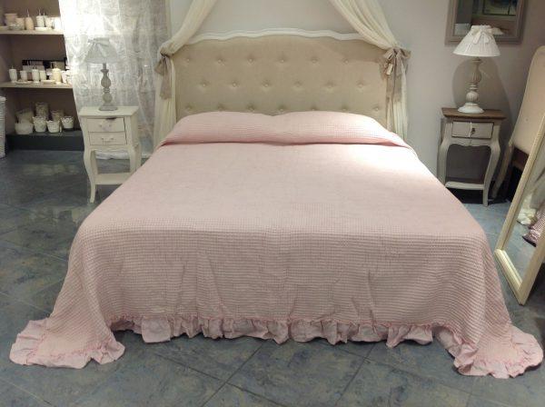 L'Atelier 17 Copriletto Queen Bee matrimoniale rosa con frappa
