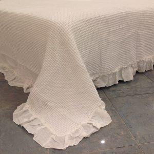 L'Atelier 17 Copriletto Quenn Bee matrimoniale con frappa bianco