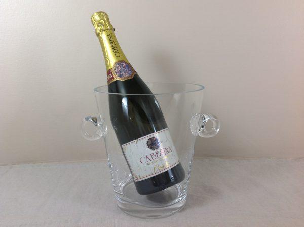 Côté Table Secchiello da vinochampagne in vetro con manici