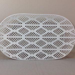 Côté Table Cesto ovale in ferro bianco traforato