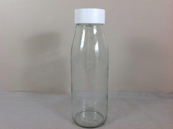 Bastion Collection Bottiglia in vetro con cuoricini con tappo basculante