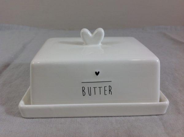 Bastion Collection Burriera con scritta Butter e cuoricino neri