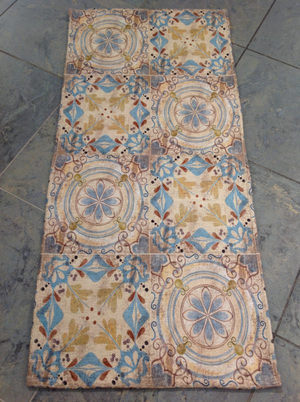L'Atelier 17 Tappetino sottolavello disegni geometrici 60x120