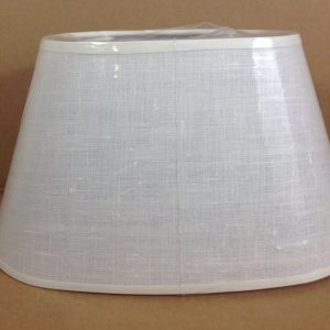 Côté Table Cappello per lampada in lino ovale bianco