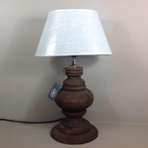 Côté Table Base lampada in legno scuro lavorato