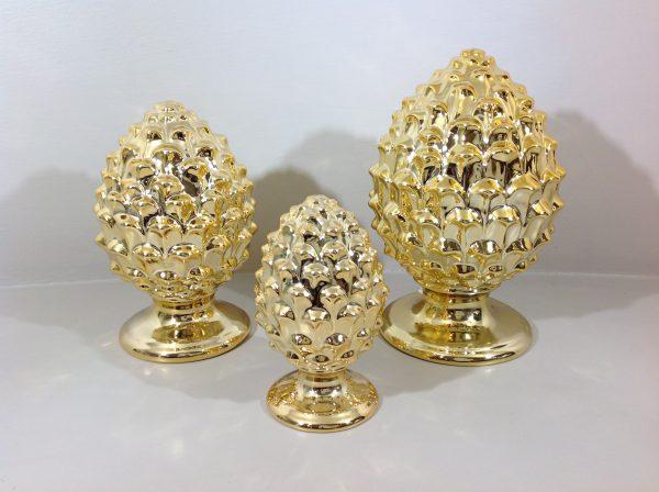 Pigna oro in porcellana piccola
